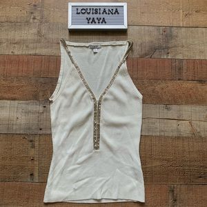 Beautiful Cache tank with rhinestone accents small